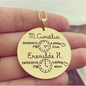 Colar Mandala Nascimento Relógio Com Escrita Personalizada 3920065aab