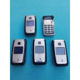 Lote Com 5 Celulares Nokia 6125 Flip (leia A Descrição)