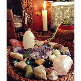 Kit Altar Cigano 8 Pedras Grandes+ Cartas Baralho+ Pêndulo