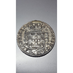 Moeda Prata 400 Reis 1816