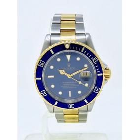 Reloj Rolex Submariner Oro Acero Carátula Azul Ref. 16613