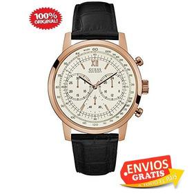 Guess Reloj Hombre Piel Negro Cronografo Sumergible Regalo L