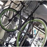Bicicleta Fixie D200 Negro Y Verde