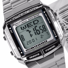 944ad3c45c54a Relógio Casio Data Bank Prata Db 360 1adf Vintage Original ...