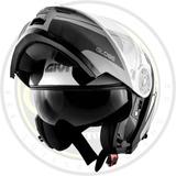 Capacete Articulado Givi X21 Globe Preto Cinza Prata