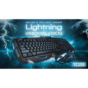 Teclado E Mouse Gamer Multilaser Lightning Tc195