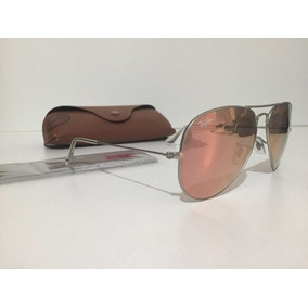 e7ccb51fe97ce Oculos Rayban Aviador Rose Espelhado De Sol - Óculos De Sol Ray-Ban ...