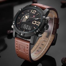 Relógio Masculino Naviforce 9095 Original,pulseira Couro