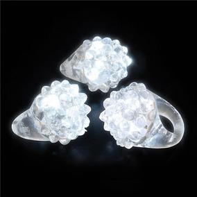 10 Anillos Luminosos Led Blanco De Goma