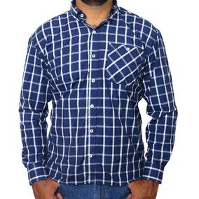 Camisa Wrangler Masculina New Western Azul 20481 - Camisas no ... 0b79feda381