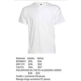 Playeras Blancas Basicas Para Sublimacion Hombre en Mercado Libre México 7ec8f0629c2b3