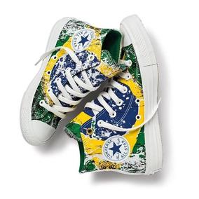 Tênis All Star Converse Verde/amarelo Ct3669548 Original