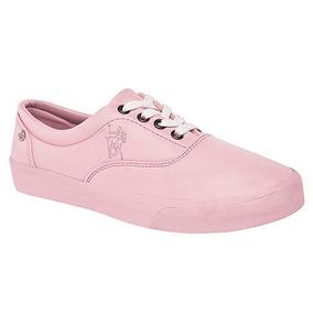 Tennis Para Dama Originales American Polo En Color Rosa