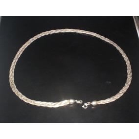 Cadena Collar Chapeada Chapa Plata 925 De 26 Cm $350 A