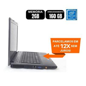 Notebook Sti Processador Pentium Dual Hd160 2gb Barato