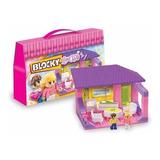 Blocky House Living Con 80 Piezas Y 2 Muñecos Mundo Manias