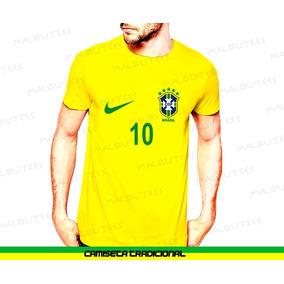 6ba675e60d Camiseta Masculina Amarela Seleção Brasil Neymar Copa 2018