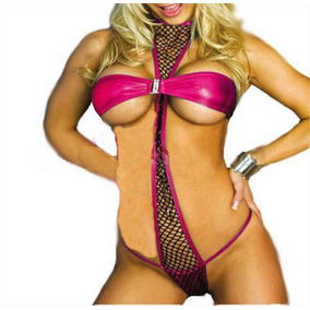 Body Bustier Rosa Con Negro T. Chica/med