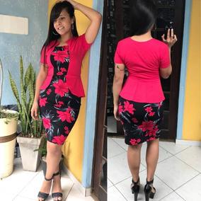 Vestido C/colete Midi Tubinho Moda Associação Evangélica