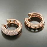 d003cdd305722 Brinco Argola De Ouro Rosê 18k + Diamantes Naturais Vj2br