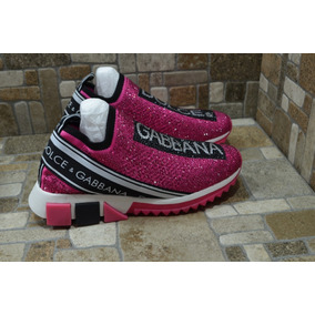 Tenis Dolce & Gabbana Dama Pink Shiny Envio Gratis