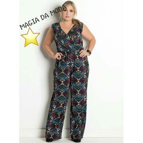 c6b558c32 Macacao Pantalona - Macacão para Feminino Violeta escuro no Mercado ...