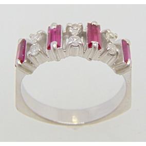 6bbea33216786 Meia Aliança Rubi Diamantes - Joias e Bijuterias no Mercado Livre Brasil