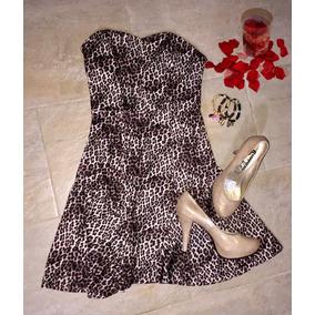 Vestido Corto Animal Print Talla S-m 15$