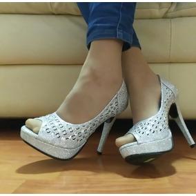 Zapatillas Blanca Plata Cristales Textura Fant Fiesta Xv T23 ef5f22d4b314