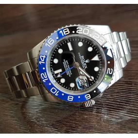 6308f2f5d0d Relógio Rolex Batman Preto E Azul Gmt Master 2 Automático