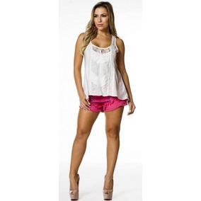 Short Pink Jeans Bordado Perfect Way P