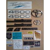 Toyota Land Cruiser 4.5/fj75/set De Emblemas Y Calcomanias
