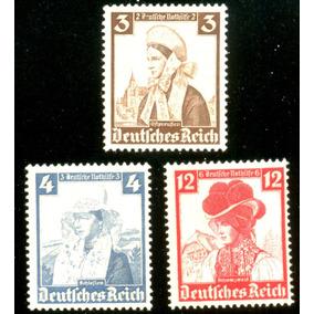 Alemanha Reich 1935 Trajes Típicos Regionais Veja + Selos