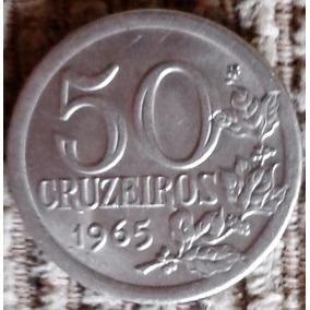 Arremate 1965 50 Cruzeiros - 3g Fc - 1 Cabelo Na Orla