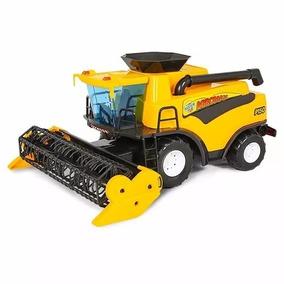 Mini Colheitadeira Infantil Brinquedo Agrícola Sítio Amarelo