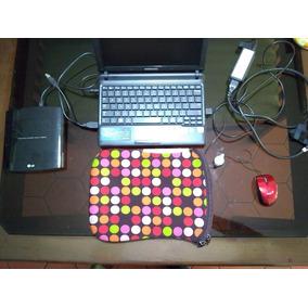 Laptop Samsung N150 Plus + Unidad Dvd Rw + Forro + Mouse