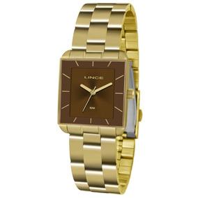 f517411fbb7 Relogio Feminino Dourado Lince Quadrado - Relógios De Pulso no ...
