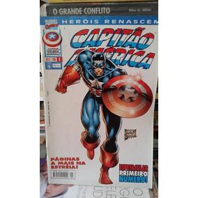 Hq-marvel- Comics- Capitão América 1- Heróis Renascem+brinde