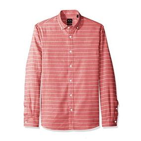 dbb46d79634 Camisa Ax Armani Exchange De Lino Mediana 100% Original