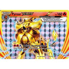 Pyroar Turbo Carta Pokemon Cerco De Vapor Português 24/114.