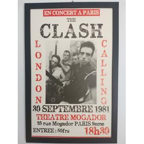 Poster The Clash Theatre Morgador Em Pvc