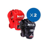 Pack 2x Pares Guantes Mma Profesionales Ufc Box Kick Boxing