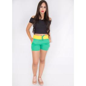 Kit 3 Shorts Tipo Moletom Moda Coloridos Promoçao