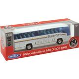 Micro Ómnibus Colectivo Welly Bus Metal 1:60 Mi Cielo Azul