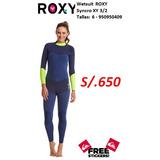 Wetsuit Mujer Roxy Syncro 3 2mm Talla 8. S  650. Lima. Wetsuit Roxy Xy Talla  6 Espesor 3 2 5a32e4398
