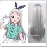 Peluca Hideri Kanzaki - Blend S Cosplay Silver Plateada 0109f4c04107