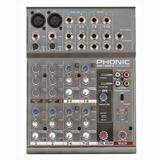 Phonic Am105 Fx Mixer 4 Canales 2 Mono 4 Estereo Efectos.