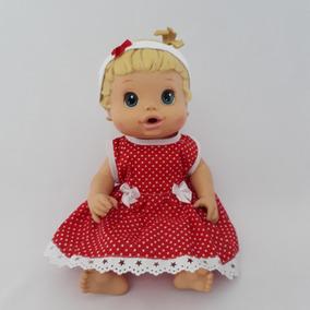 Kit 4 Roupas Roupinhas Vestido Calcinha Boneca Baby Alive !