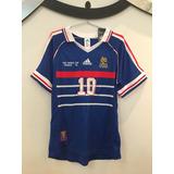 Camisa França - Final Copa 1998 -  10 Zidane -pronta Entrega 8db42856bb946