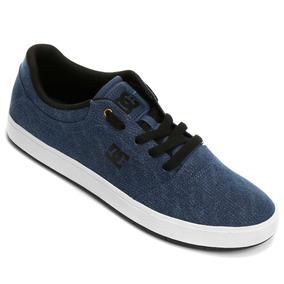 Tenis Dc Crisis Tx Se Masculino Skate Azul Escuro Original